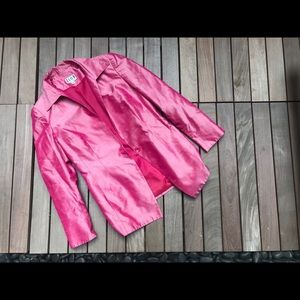 ZION Sheeny Pink 90's Style Pocketed Blazer